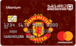 National Bank of Egypt Manchester United Titinum Credit Card