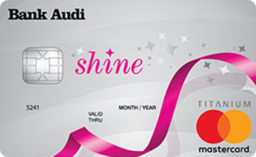 Shine MasterCard Credit Card from Bank Audi